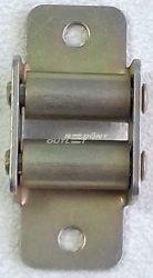 Gurtni bevezető álló két fém görgős mini gurtnihoz