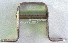 Gurtni bevezető kiemelt egy fém görgős mini gurtnihoz