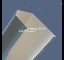 Redőny tok új típusú aluminium tokvéges 13,8cm