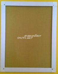 Szúnyogháló fix műanyag 40,5 x 72 cm méretben fehér kerettel
