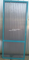 Szúnyogháló ajtó nyíló alumínium zöld kerettel 87,5 x 211,5 cm-es méretben